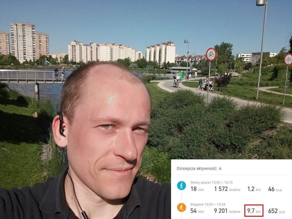 bieganie w słońcu